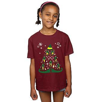 Elf Mädchen Weihnachtsbaum T-Shirt