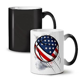 Basketball USA Play Sport NEW Black Colour Changing Tea Coffee Ceramic Mug 11 oz | Wellcoda