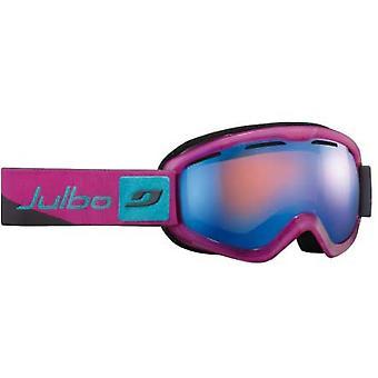 Julbo ווגה DLX משקפי צבע (כתום כחול פלאש עדשה אפורה/ורוד/מסגרת כחולה)