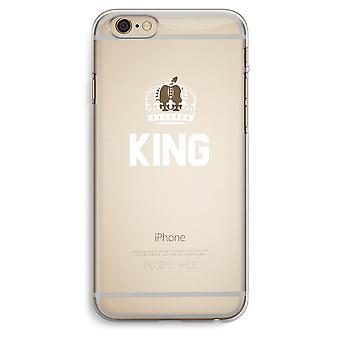 iPhone 6 Plus / 6S Plus transparant Case (Soft) - koning zwart