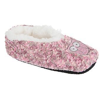 Slumberzzz Womens/Ladies Animal Microbobble Fluffy Slippers