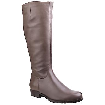 Riva Womens Vicenza Dames Leer Lange Boot Taupe