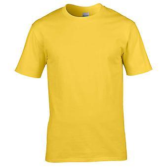 T-shirt Gildan Mens Premium Ultra algodão tripulação pescoço liso