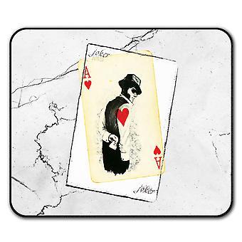 Salaperäinen Poker liukumaton hiirimatto Pad 24 cm x 20 cm | Wellcoda
