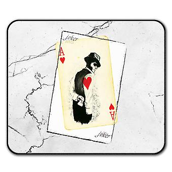 Geheimnisvolle Poker Anti-Rutsch-Mauspad Pad 24 x 20 cm | Wellcoda