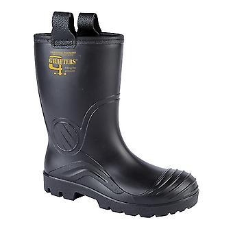 Grafters Mens PVC impermeável Segurança Industrial Rigger Boot