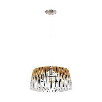 EGLO потолок подвесной одного света Dia: 480 природа белый/Мэтт никель Artana
