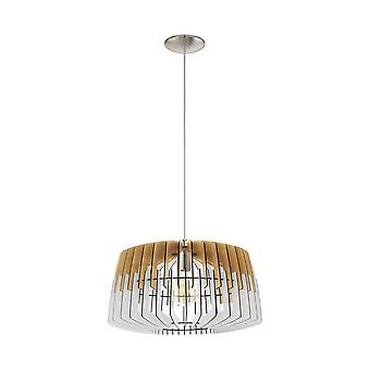 Eglo Ceiling Pendant Single Light Dia: 480 Nature White/Matt Nickel Artana