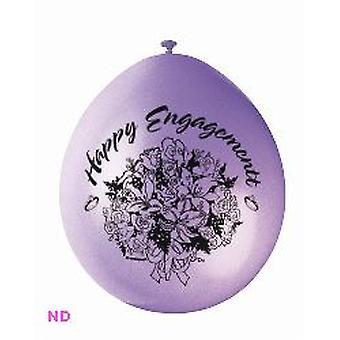 """Ballonnen 'Gelukkig ENGAGEMENT' 9"""" Latex (10)"""