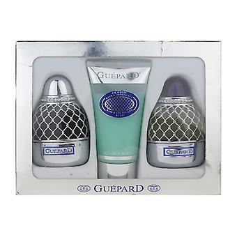 Guepard Guepard 3 bucata cadou set EDP + aftershave 3.4 oz & gel de duș 5.1 oz