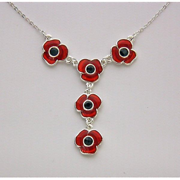 Union Jack Wear Designer Poppy Necklace