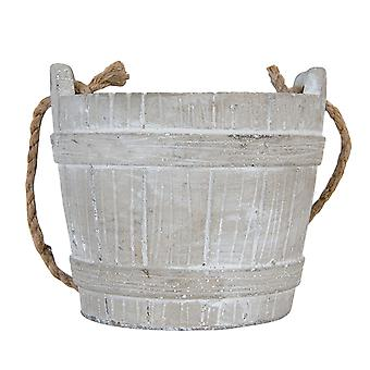 Clayre & EEF rustic plant pot planter from stone vintage farmhouse 16 x 14 cm