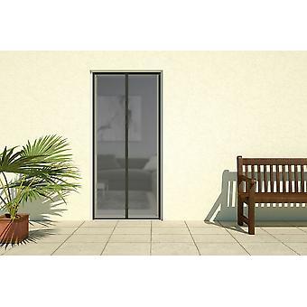 Cortina de tiras magnéticas de puerta de protección de insectos mosca pantalla puerta 100 x 220 cm en negro