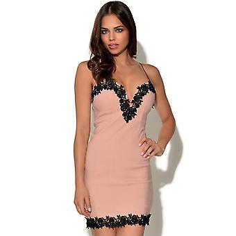 RARE Lace Trim Bodycon Dress