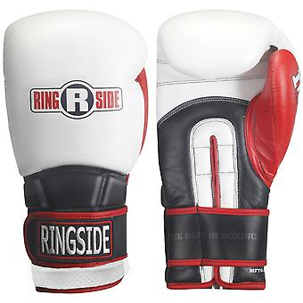 Ringside Boxing Pro Style IMF Tech Training Gloves - White/Black/Red