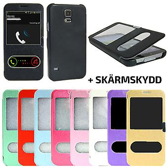 2 in 1 Flip case Samsung Galaxy S5 with Magnet lock + screen protector