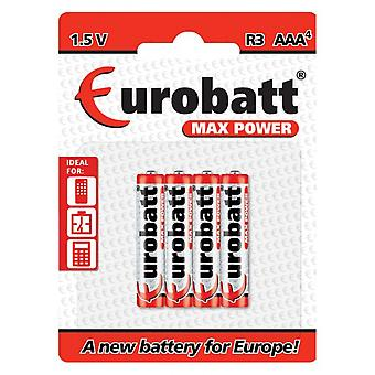 Eurobto Max Power 1.5 v R03 AAA Battery (4-pack)