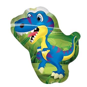 Stagnola divertimento dinosauri palloncino palloncino di elio palloncino 61 x 76 cm