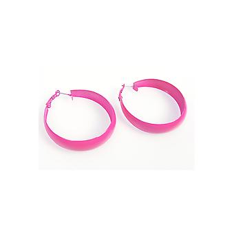 Jewelry and crowns  Disco earrings bright pink