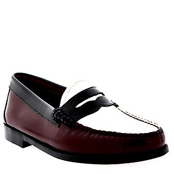 Womens G.H Bass Weejuns Penny Bordo Leather Smart Work Brown Office Shoes