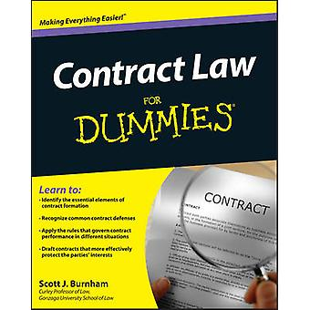 Contract Law For Dummies by Consumer Dummies - Scott J. Burnham - 978
