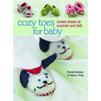 Viihtyisä varpaat Baby - makea kengät Virkattu ja tuntui Chantal Garcea