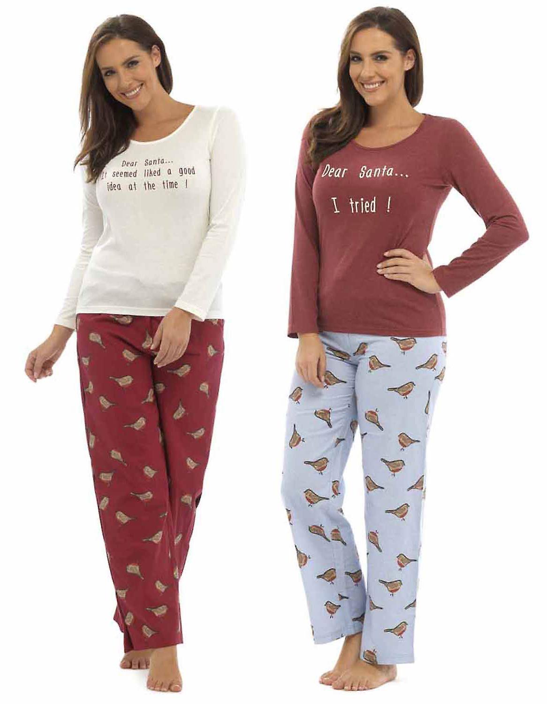 långärmad pyjamas dam