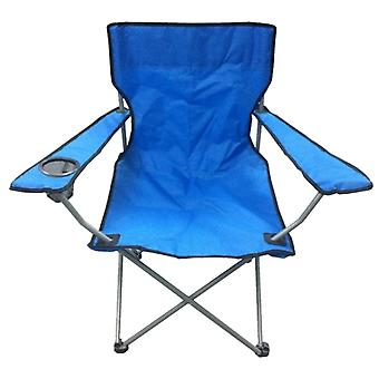 Blue & Black Lightweight Folding Camping Beach Captains Chair