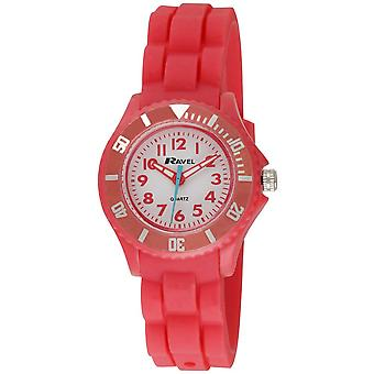 Ravel Analogue Rotating Bezel & Pink Silicone Strap Children's  Watch R1802.10
