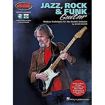 Dean Brown: Jazz, Rock y Funk guitarra - técnicas modernas de la GuitaristT eléctrica (libro en rústica)