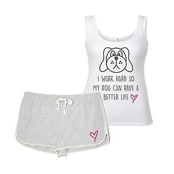Jag jobbar hårt så min hund kan ha ett bättre liv pyjamas Set