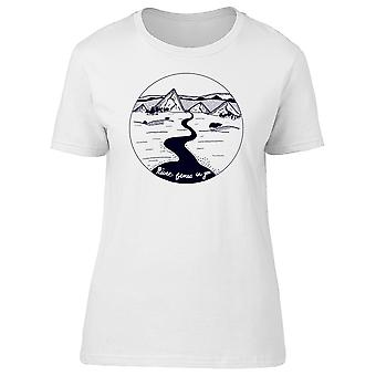 River Flows In You Graphic Quote Tee Men's -Image by Shutterstock