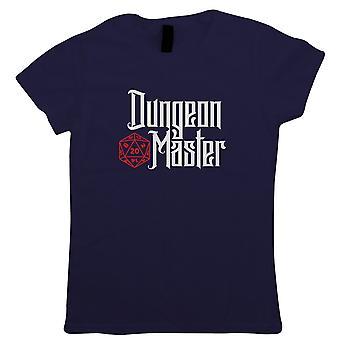 Dungeon Master Womens T-Shirt   Dungeons Dragon D&D DND Pathfinder 3.5 Tarrasque   Role Play Fantasy Pen Paper Games Bag Of Holding   Geek Gift Her Mum