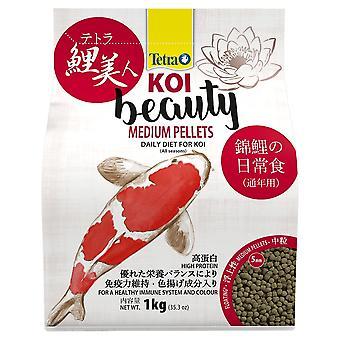 Tetra Pond Koi Beauty Medium Pellets 1kg/4Ltr