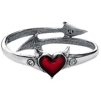 Alchemie Gothic Teufel Herz Pewter Armband