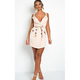 IKRUSH Womens Sandi knop omhoog jurk
