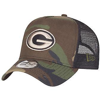 New Era Adjustable Trucker Cap - Green Bay Packers wood camo