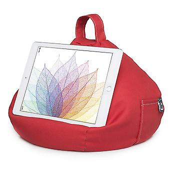 Ipad, tablet & ereader bean bag stand by ibeani - red