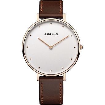 Bering Damen Uhr Armbanduhr Slim Classic - 14839-564 Leder
