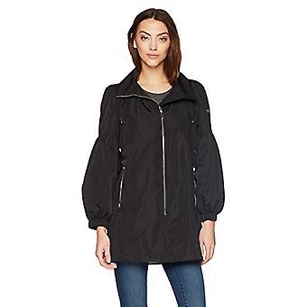 Calvin Klein Women's Oversized Sleeve Rain Jacket , black, M