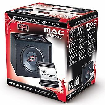 Áudio Mac MAC Xtreme 2000, bass reflex subwoofer + amplificador, 1 conjunto B-estoque