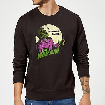 Universal Monsters The Wolfman Sudadera Retro - Negro