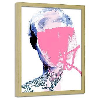 Cartel en marco, mujer sin rostro 2