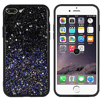 BackCover Spark Glitter TPU + PC för Apple iPhone 8 Plus - 7 Plus Blå