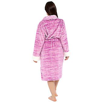 السيدات مارل تأثير تصميم الصوف ثوب خلع الملابس رداء 12-14 الوردي