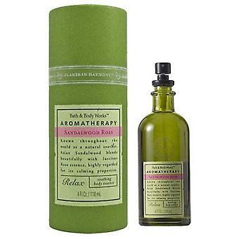 Baie & corp lucrari Aromaterapie lemn de santal Rose relaxați-vă liniștitor corp esență 4 fl oz/118 ml