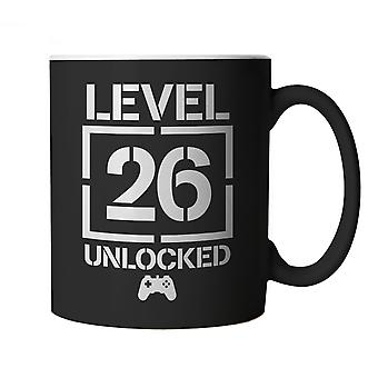 Level 26 Unlocked Video Game Birthday, Mug | Age Related Year Birthday Novelty Gift Present | 60s 70s 80s 90s Dad Grandad Son Mum Daughter | Gaming Cup Gift
