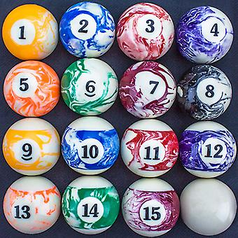 Marbled Pool Ball Set