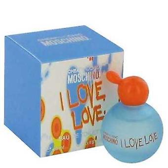 Jag älskar Love by Moschino mini EDT .17 oz (damer) V728-456662