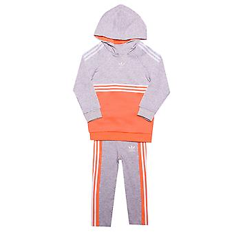 Infant Girls adidas Originals Authentic Tracksuit In Grey Heather- Hoody:-